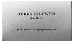 Jerry Silfwer PR-konsult - Business Card